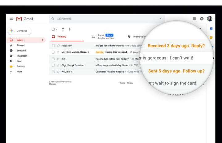 Gmail nudge feature