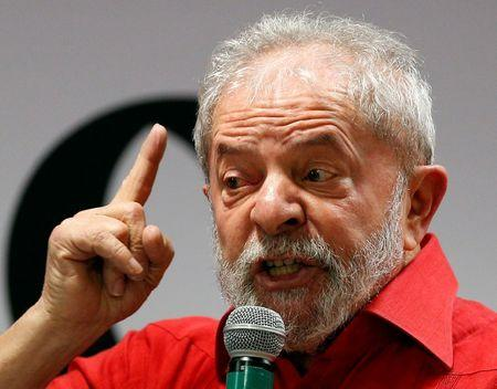 Former Brazilian President Luiz Inacio Lula da Silva attends a Workers Party National congress in Sao Paulo