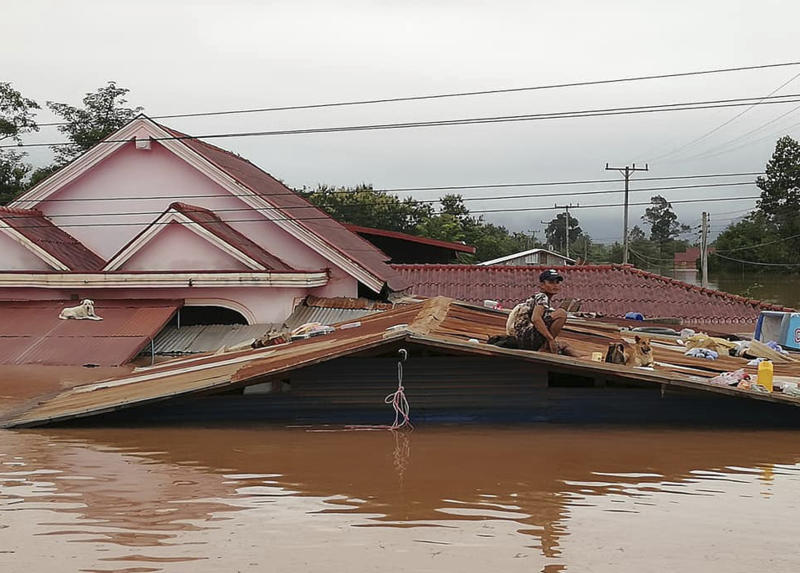 Dam wall collapses in Laos killing more than 20 people
