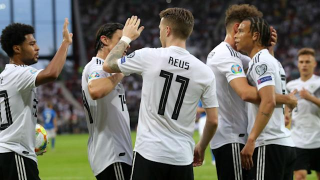 Germany made it three wins from as many games in Euro 2020 qualifying, as they crushed Estonia 8-0 on Tuesday.