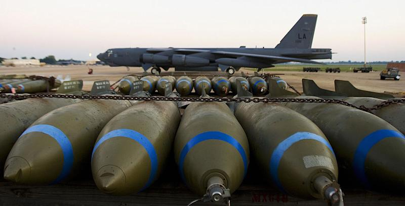 B-52s could be put on 24-hour alert at US Air Force bases (Picture: Getty)