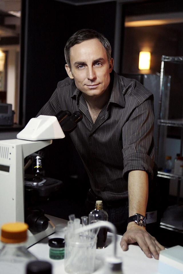 "Wallace Langham stars as lab tech Hodges in ""CSI: Crime Scene Investigation."""