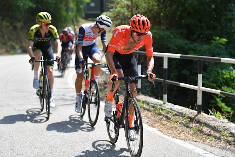 BAROLO ITALY AUGUST 12 Joey Rosskopf of The United States and CCC Team Breakaway during the 104th Giro del Piemonte 2020 a 187km race from Santo Stefano Belbo to Barolo 294m GranPiemonte GranPiemonte on August 12 2020 Barolo Italy Photo by Tim de WaeleGetty Images
