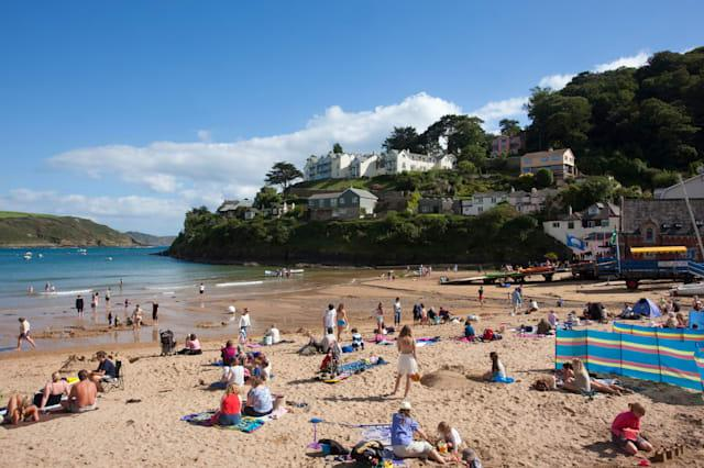 South Sands beach, Salcombe, Devon, England, United Kingdom