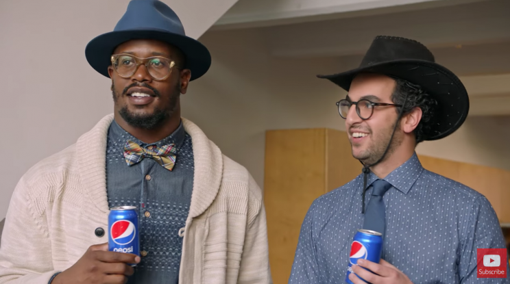 NFL linebacker Von Miller (L) in new Pepsi-Tostitos digital spot