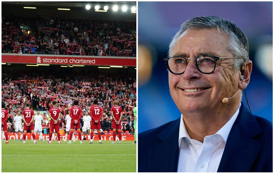 Anfield rindió un emotivo homenaje a Michael Robinson. (Foto: Peter Byrne / PA Images / Getty Images / Get Ready Images / MB Media / Getty Images).