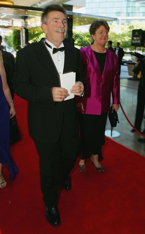 MELBOURNE, AUSTRALIA - JANUARY 31:  Rod Marsh arrives for the 2005 Allan Border Medal Dinner held at Crown Casino on January 31, 2005 in Melbourne, Australia.  (Photo by Robert Cianflone/Getty Images)