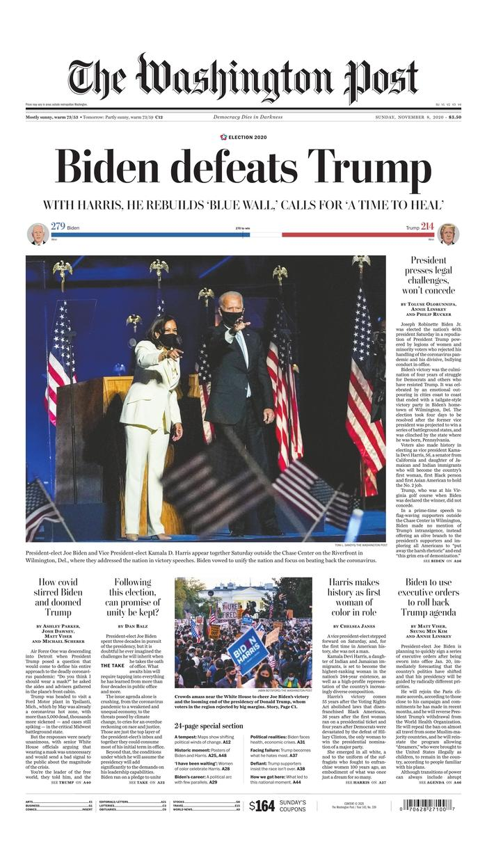 "The Washington Post, Published in Washington, D.C. USA (<a href=""https://www.newseum.org/todaysfrontpages/?tfp_display=list&tfp_id=DC_WP"" rel=""nofollow noopener"" target=""_blank"" data-ylk=""slk:Newseum"" class=""link rapid-noclick-resp"">Newseum</a>)"
