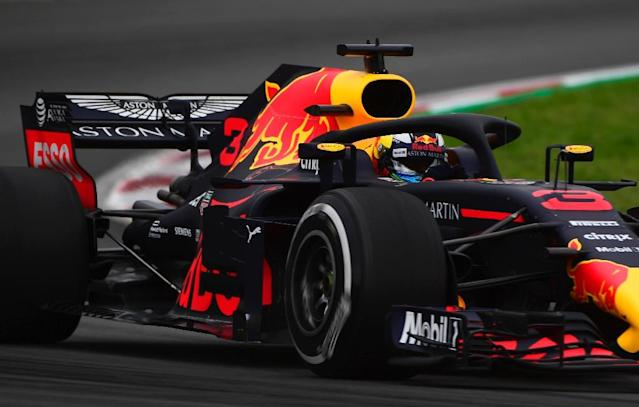 Red Bull's Australian driver Daniel Ricciardo tops the times for Thursday's free practice at the Monte Carlo grand prix (AFP Photo/PIERRE-PHILIPPE MARCOU)