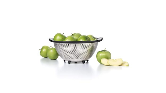 """<div class=""""inline-image__caption""""><p><a href=""""https://amzn.to/36mbCow"""" rel=""""nofollow noopener"""" target=""""_blank"""" data-ylk=""""slk:OXO Good Grips Stainless Steel Colander"""" class=""""link rapid-noclick-resp"""">OXO Good Grips Stainless Steel Colander</a>, $29.99 at Amazon</p></div>"""