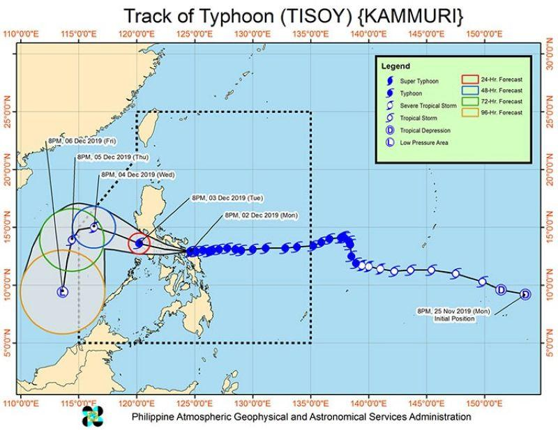 'Tisoy' makes landfall in Gubat, Sorsogon