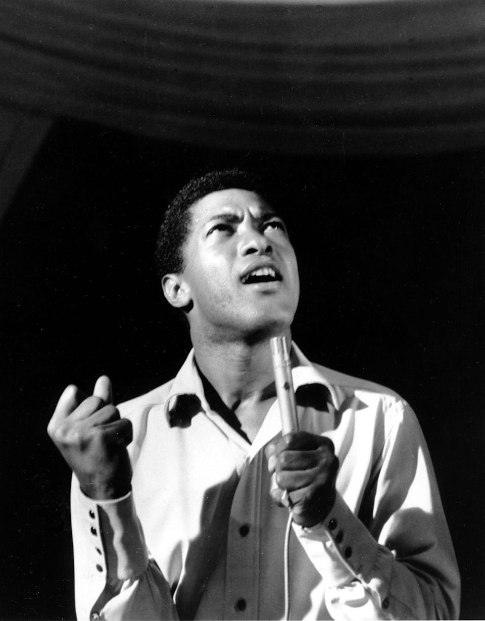 The real Sam Cooke performs at the Copacabana nightclub.