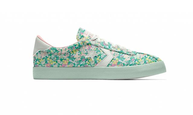 "<p>Custom Pastel Floral Breakpoint Ox, $85, <a href=""https://store.nike.com/us/en_us/product/womens-custom-converse-pastel-floral-breakpoint-ox-shoe/?piid=43601&pbid=591267353"" rel=""nofollow noopener"" target=""_blank"" data-ylk=""slk:nike.com"" class=""link rapid-noclick-resp"">nike.com</a> </p>"