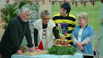 <p>It's everything you love about the hilariously polite <em>Great British Baking Show</em>—where contestants bake sweet treats in competition—with a holiday twist. Deck the halls with desserts! </p> <p><em>Available on Netflix</em> </p>