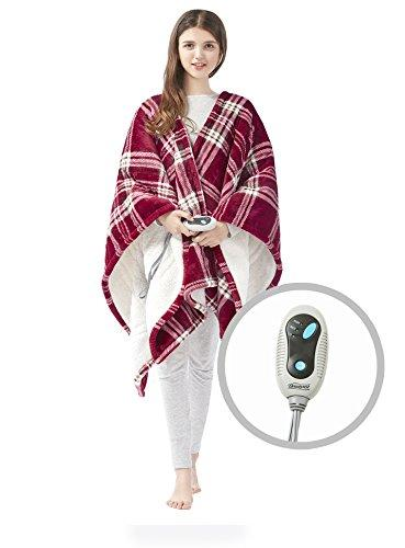 """<p><strong>Beautyrest</strong></p><p>amazon.com</p><p><strong>$46.99</strong></p><p><a href=""""http://www.amazon.com/dp/B074ZNNLZ4/?tag=syn-yahoo-20&ascsubtag=%5Bartid%7C10072.g.28349669%5Bsrc%7Cyahoo-us"""" target=""""_blank"""">SHOP NOW</a></p><p>Unlike a traditional throw blanket, this electric version has a U-shaped design that lets you drape it over your shoulders like a poncho. For anyone prone to especially cold shoulders, nearly 400 hundred Amazon reviewers agree that this blanket is the perfect antidote to chilly weather.</p>"""