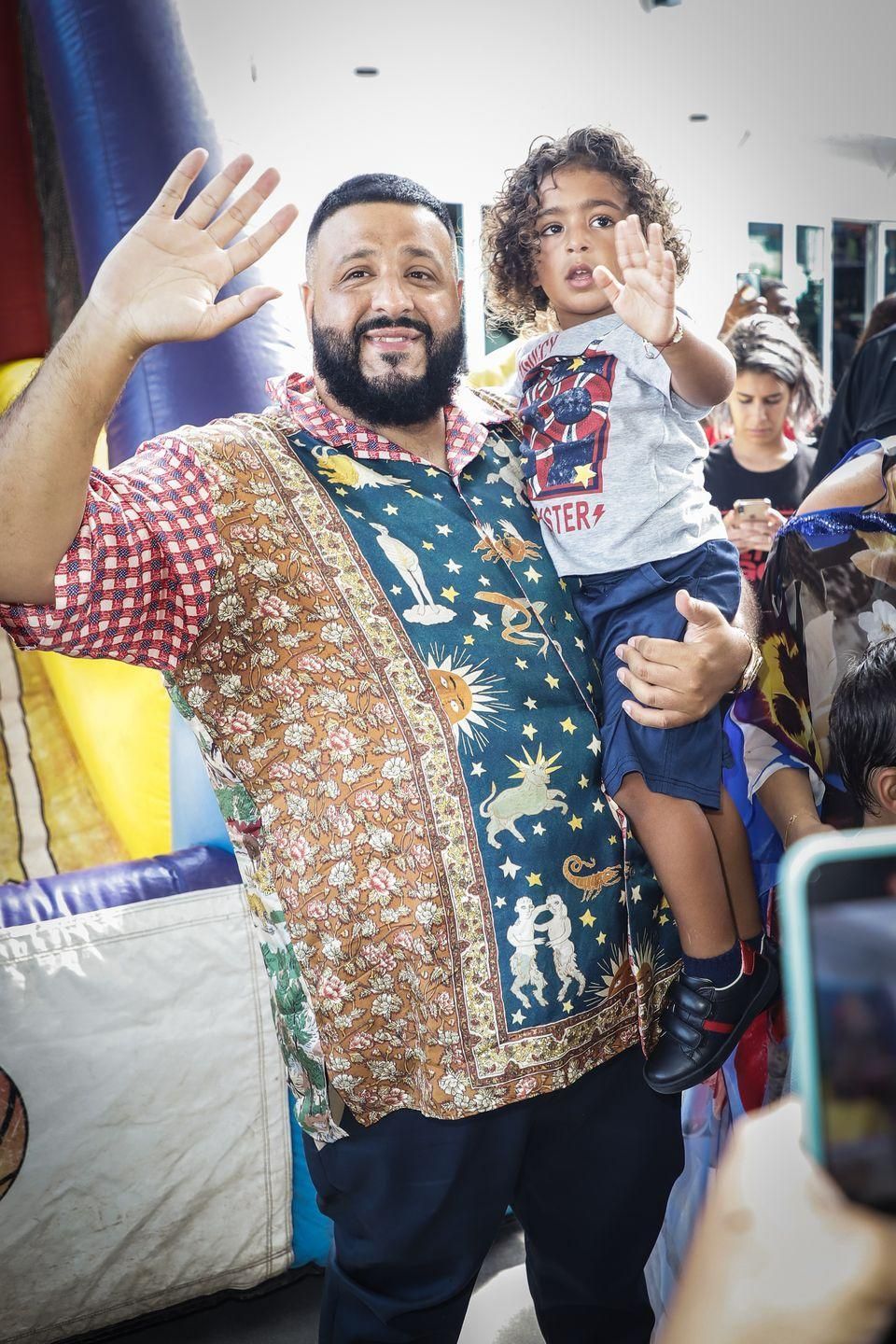 """<p><strong>Children</strong>: Asahd Tuck Khaled (3) and Aalam Khaled (4 months)</p><p>You may know the chart-topping DJ and record producer for his <a href=""""https://www.oprahmag.com/entertainment/g27373012/best-songs-of-summer/?slide=8"""" rel=""""nofollow noopener"""" target=""""_blank"""" data-ylk=""""slk:summer hit songs"""" class=""""link rapid-noclick-resp"""">summer hit songs</a>, but take one look at his <a href=""""https://www.instagram.com/djkhaled/"""" rel=""""nofollow noopener"""" target=""""_blank"""" data-ylk=""""slk:Instagram"""" class=""""link rapid-noclick-resp"""">Instagram</a> and it's easy to see that his sons are the joy of his life. </p>"""