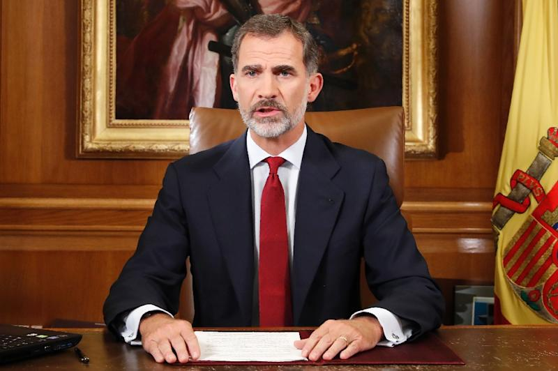 """Spain's King Felipe VI said Catalan authorities had acted with """"disloyalty"""""""
