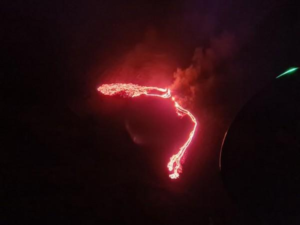 Volcanic eruption in southwestern Iceland (Photo/Credit: Icelandic Meteorological Office - IMO tweet)