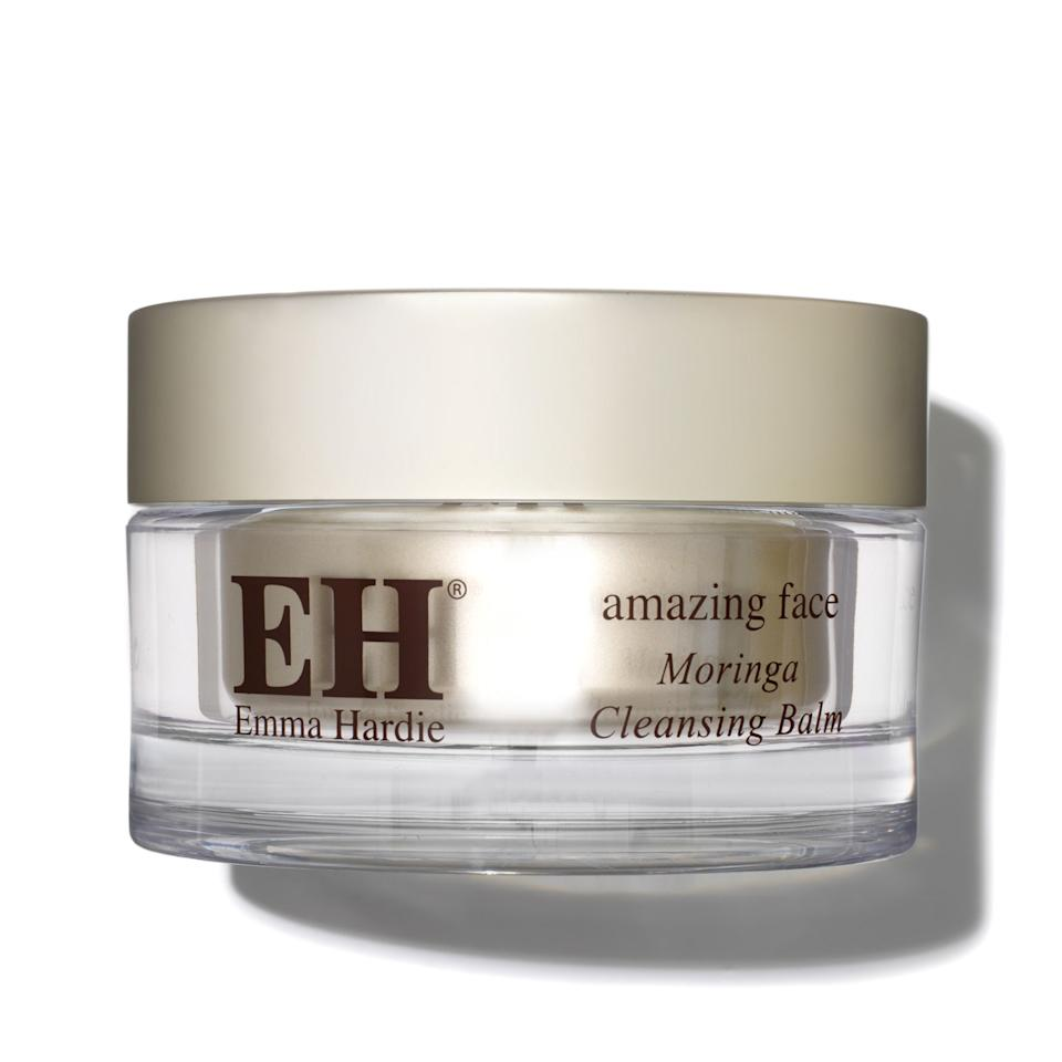 """<p><strong>Emma Hardie</strong></p><p>spacenk.com</p><p><strong>$60.00</strong></p><p><a rel=""""nofollow"""" href=""""https://www.spacenk.com/us/en_US/skincare/cleansers/cleansers/moringa-cleansing-balm-with-cleansing-cloth-MUK300051300.html"""">Shop Now</a></p><p>There's a reason this cleanser has won so many awards over the years. It has a blend of essential fatty acid-rich oils that soften and keep the skin supple as you massage the balm into your face, while moringa seed extract, wild sea fennel, and vitamin E help purify the skin. Also in the mix: a blend of orange, neroli and mandarin essential oils for a calming sent, and jasmine and rose extract to give comfort to dry, dehydrated and mature skintypes. Sure, it'll take your makeup off, but it's a luxurious treatment too. </p>"""
