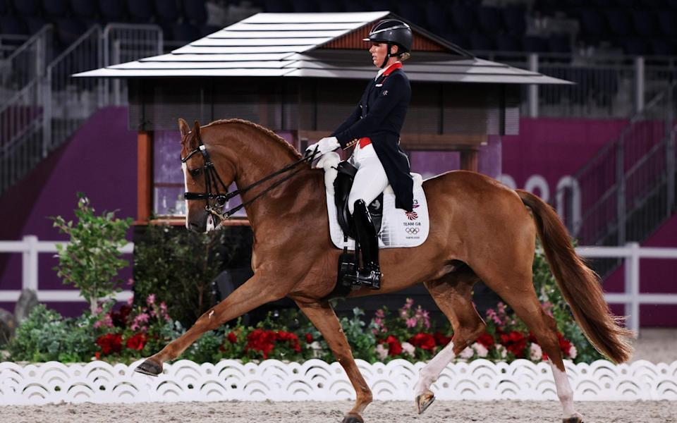 Dujardin won two Olympic gold medals atop her previous mount, the gelding Valegro - ALKIS KONSTANTINIDIS