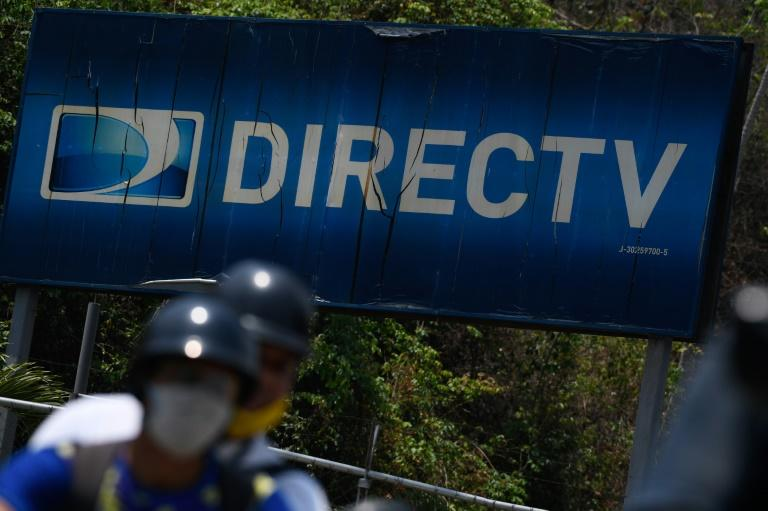 The DirecTV headquarters in Caracas on May 19, 2020. According to official figures, DirecTV accounted for 45 percent of the subscription TV market in Venezuela
