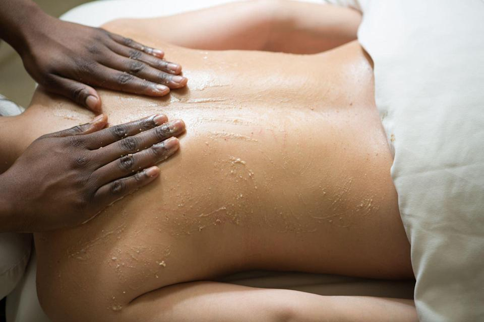 """<p>Treat yourself to a lavender and vanilla-bourbon """"body drench"""" treatment (which includes a whiskey-spiked body-butter rub) at <a href=""""https://www.blackberryfarm.com/"""" rel=""""nofollow noopener"""" target=""""_blank"""" data-ylk=""""slk:Blackberry Farm"""" class=""""link rapid-noclick-resp"""">Blackberry Farm</a> in Walland, Tenn.</p>"""