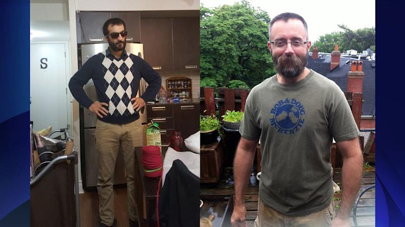 Selim Esen, 44, (in sweater) went missing in April and Andrew Kinsman, 49, (in a T-shirt) disappeared in June. HANDOUT/Toronto Police Service