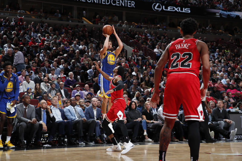 half off 9fcdc 5b1d7 Klay Thompson sets NBA record for 3-pointers in game