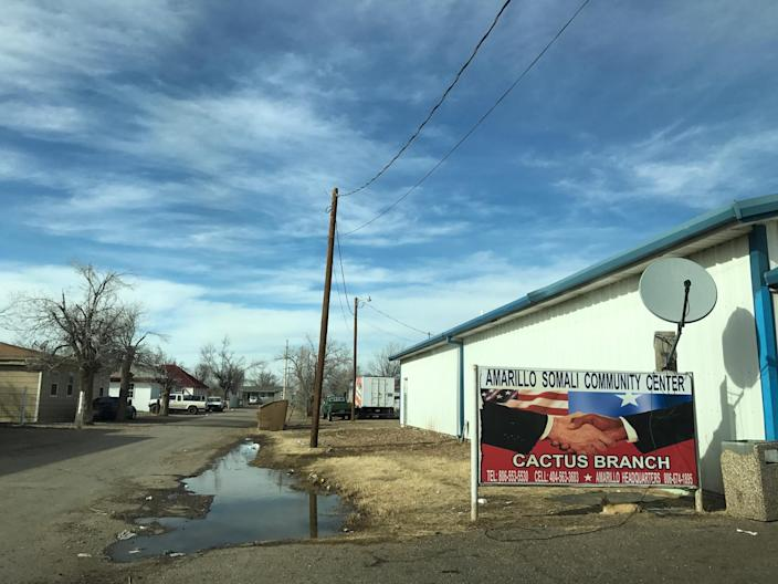 A Somali community center in Cactus, Texas, home to many newly arrived refugees. (Photo: Holly Bailey/Yahoo News)