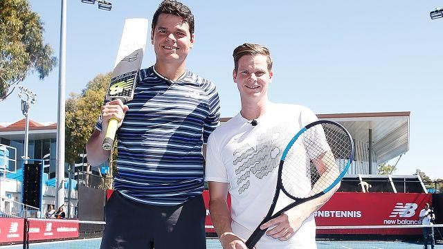 Raonic and Smith. Image: Getty