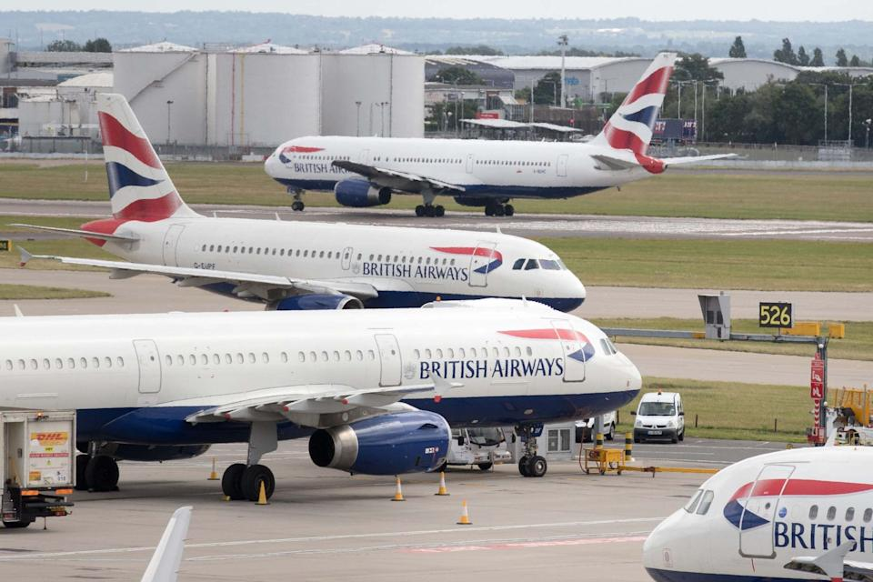 British Airways have cancelled at least three days of fights in September due to union strike action: PA