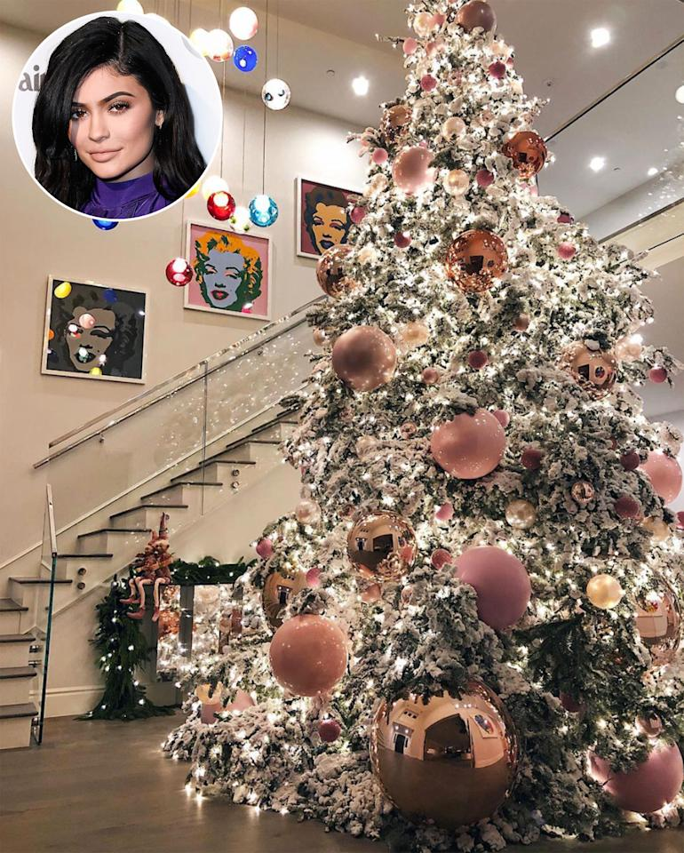 "<p>The youngest KarJenner sibling may be the biggest fan of the holiday season. This year, she put up <a rel=""nofollow"" href=""http://people.com/home/pregnant-kylie-jenner-christmas-tree-holiday-photos/"">a 20-foot-tall snow-covered tree</a> decked out in giant pink balls. ""Thank you <a rel=""nofollow"">@jeffleatham</a> & his team for making my XMAS dreams come true! 20 feet of magic! Even more perfect in real life … ,"" she wrote in her Instagram caption, paying tribute to her personal Christmas elf, Leatham, who is the artistic director of the Four Seasons hotel in Beverly Hills and <a rel=""nofollow"" href=""http://people.com/tv/colton-haynes-jeff-leathams-wedding-photos/officiant-kris-jenner"">new husband to actor Colton Haynes</a>.</p>"