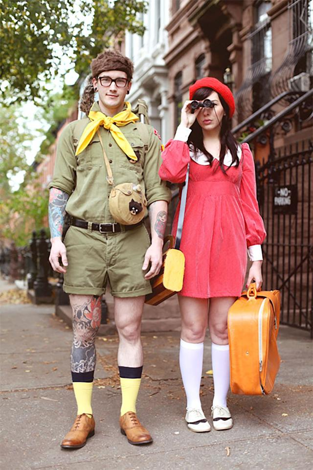 """<p>Fans of the classic Wes Anderson film <em><a rel=""""nofollow"""" href=""""https://www.amazon.com/Moonrise-Kingdom-Bruce-Willis/dp/B009RI4ZKC"""">Moonrise Kingdom</a></em>? Here's your chance to dress up completely on-theme without breaking the bank. </p><p><strong>Get the tutorial at <a rel=""""nofollow"""" href=""""https://keikolynn.com/2017/10/halloween-couples-costume-ideas.html"""">Keiko Lynn</a>.</strong> </p>"""
