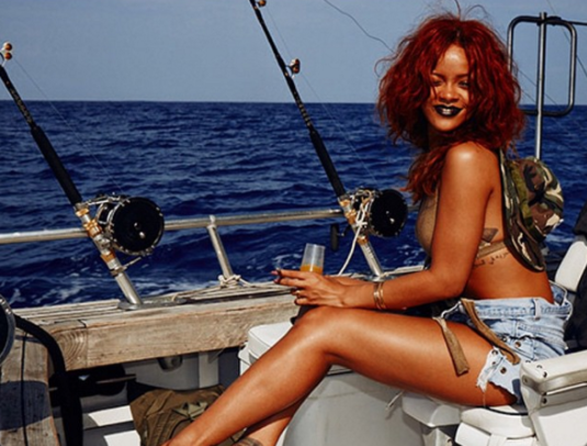 "<p>It's official: The singer can make any activity — including one that can get pretty messy — look fabulous. Here she is in 2015 kicking back on a dirty fishing boat having a drink and a smoke, and making it look fashion-photo-shoot fabulous, as only Ri-Ri can. FYI, she later ate her catch. (Photo: <a href=""https://www.instagram.com/p/14LptWBM8-/"" rel=""nofollow noopener"" target=""_blank"" data-ylk=""slk:Rihanna via Instagram"" class=""link rapid-noclick-resp"">Rihanna via Instagram</a>) </p>"