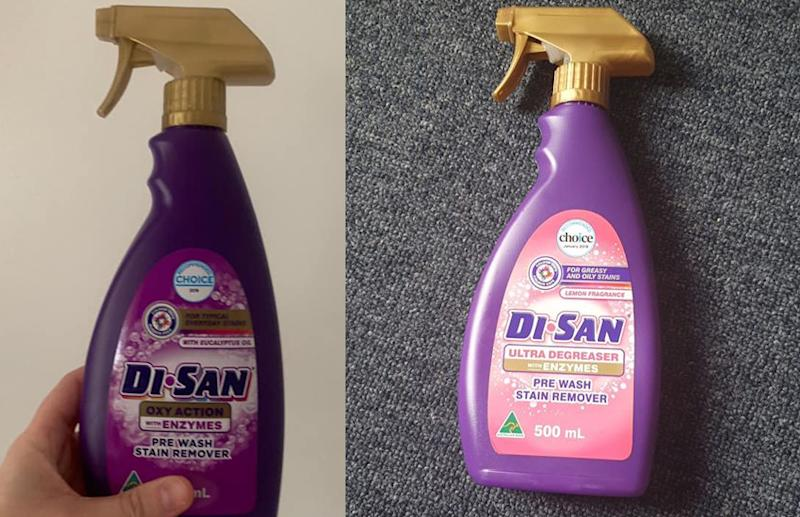 The Oxy Action and the Degreaser Di Sanm pre Wash Stain Removers difference hack
