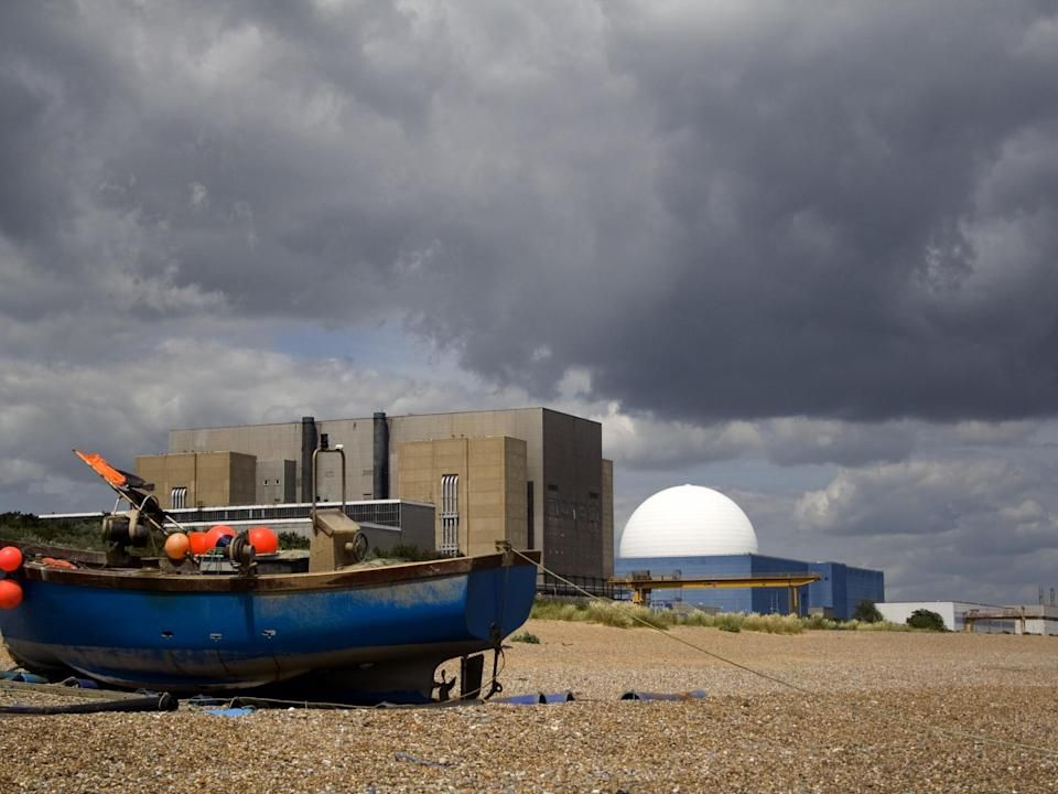 Sizewell B nuclear power station in Suffolk is seen behind a local fishing boat (Getty)