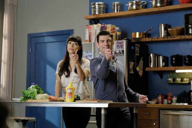 Hannah Simone and Max Greenfield on <em>New Girl.</em> (Photo: Getty Images)