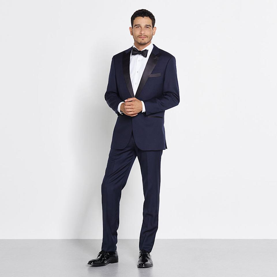 """<p>Rent for $125 (includes coat and pant), <a rel=""""nofollow"""" href=""""https://theblacktux.com/collection/tuxedos/midnight-blue-tuxedo"""">theblacktux.com</a> (Photo: Courtesy of The Black Tux) </p>"""