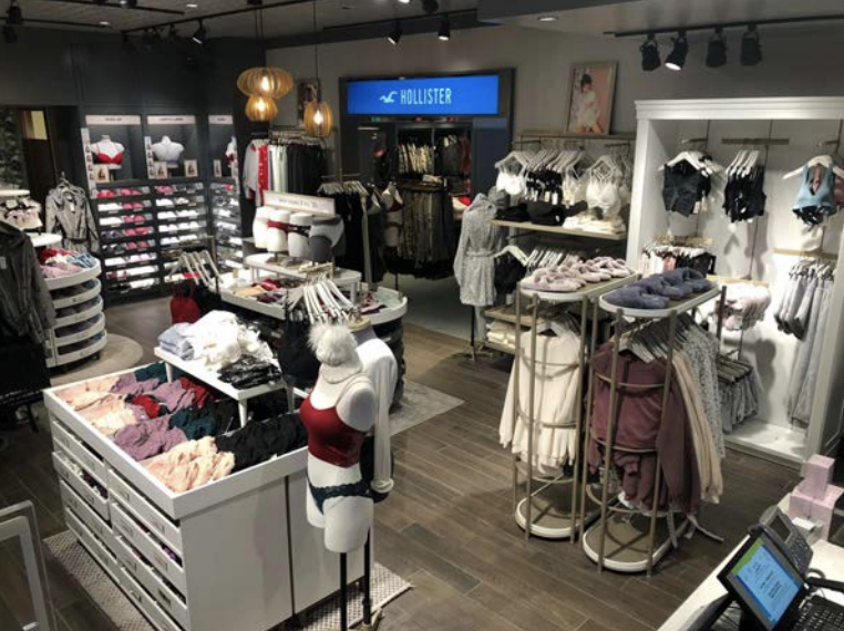 Abercrombie's new Gilly Hicks intimate apparel shop inside the Hollister store at Garden State Plaza mall.