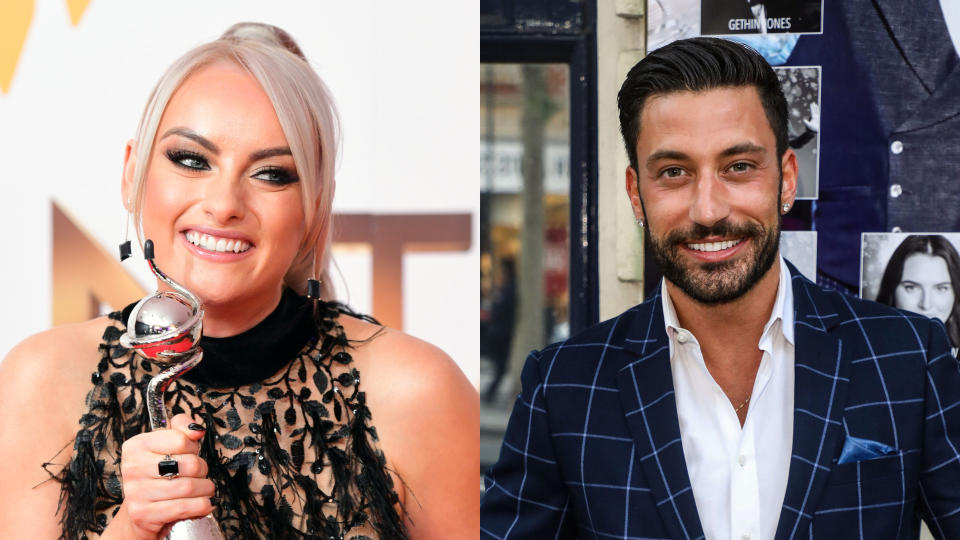 Katie McGlynn and Giovanni Pernice were romantically linked in the press back in 2017. (Ian West/PA Images/Brett Cove/SOPA Images/LightRocket/Getty Images)