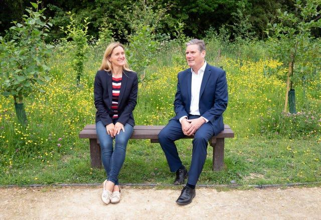 Labour leader Keir Starmer and party candidate Kim Leadbeater