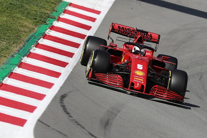 Vettel puts Ferrari on top for first time in testing