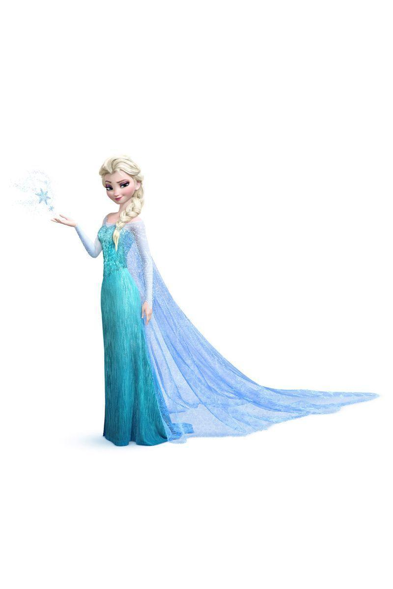 <p>Princess Elsa's icy blue gown doesn't come to fruition until she embraces her mystical powers. The result? A form-fitting beaded gown and cape</p>