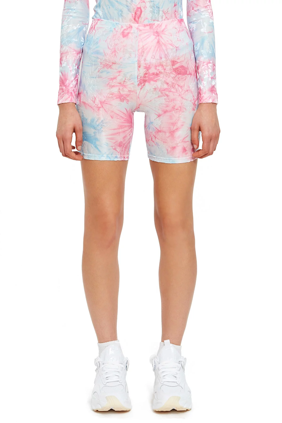 """<br> <br> <strong>Callipygian</strong> Textured Tie Dye Bike Shorts, $, available at <a href=""""https://go.skimresources.com/?id=30283X879131&url=https%3A%2F%2Fwww.openingceremony.com%2Fwomens%2Fcallipygian%2Ftextured-tie-dye-bike-short-ST222671.html"""" rel=""""nofollow noopener"""" target=""""_blank"""" data-ylk=""""slk:Opening Ceremony"""" class=""""link rapid-noclick-resp"""">Opening Ceremony</a>"""
