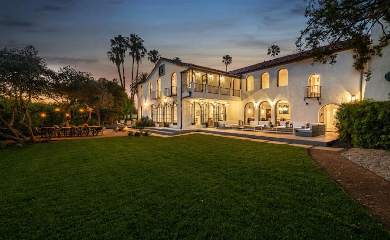 Built in 1923, the home adjoins Wilshire Country Club and includes a putting green of its own.