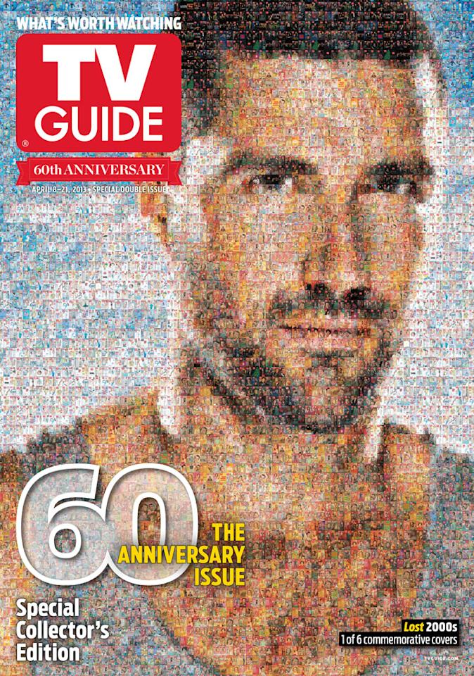 "TV Guide 60th Anniversary cover featuring ""Lost."""