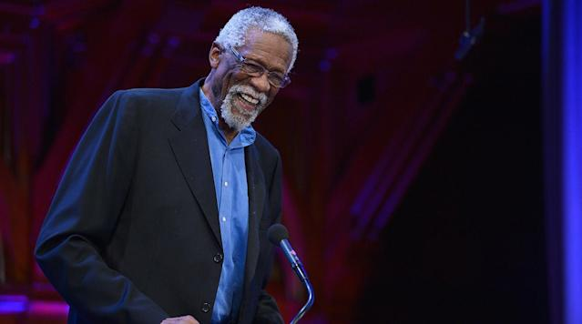 NBA legend Bill Russell was hospitalized for for dehydration Friday and left Saturday, he confirmed on Twitter.