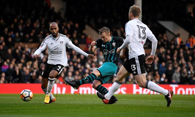 James Ward-Prowse's shoots just before the half-hour mark, sending the ball past David Button in the Fulham goal to give Southampton the lead.