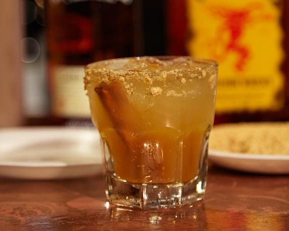 """The """"Harvest Moon"""" cocktail combines sweet apple liquor, cinnamon whiskey and fresh apple cider to capture the essence of fall."""