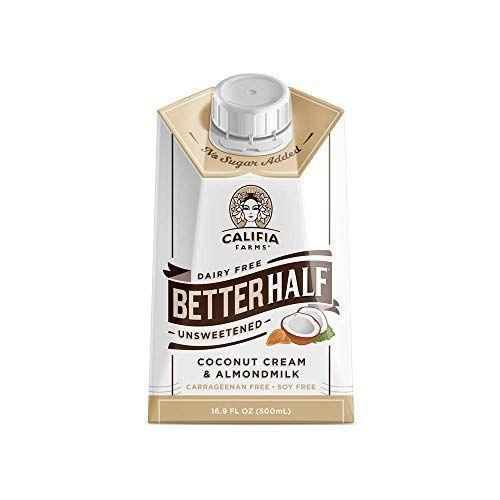 "<p><strong>Califia Farms</strong></p><p>amazon.com</p><p><strong>$19.68</strong></p><p><a href=""https://www.amazon.com/dp/B0747G1V9Q?tag=syn-yahoo-20&ascsubtag=%5Bartid%7C2139.g.26145670%5Bsrc%7Cyahoo-us"" rel=""nofollow noopener"" target=""_blank"" data-ylk=""slk:BUY IT HERE"" class=""link rapid-noclick-resp"">BUY IT HERE</a></p><p>Not only is this coffee creamer keto, but it's also Whole30 compliant, vegan, and gluten-free. With zero carbs and sugar, it has a nice blend of coconut cream and almond milk for flavor.</p>"